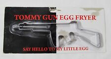 Tommy Gun Shaped Egg Fryer Stainless Steel by Island Dogs Cookie Press New 8.5""
