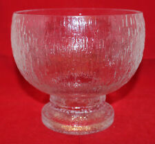 Iittala Arabia Finland Kekkerit Large Footed Glass Bowl 18cm Timo Sarpaneva