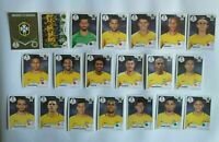 Panini WM 2018 Brasilien Brazil Mannschaft Team Complete Set World Cup WC 18