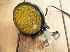 Scheinwerfer Objektiv Gelb LED Oldskool Motorrad Cafe Racer Scrambler Ø 12,5