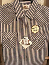 Ely Cattleman striped Western Shirt Short Sleeve XL Easy Care