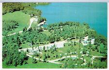 TRAILER PARK TOMAHAWK LODGE Sioux Narrows Ontario Canada 1960's Vintage Aerial