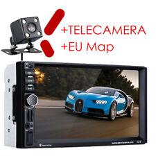 "7"" 2DIN Autoradio GPS Navi Bluetooth Stereo MP5 FM USB AUX +Rearview Camera MAP"