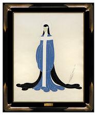 ERTE Original Gouache Painting Signed Artwork Costume Dress Design Nude Female
