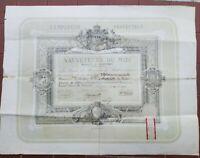 1870 288) DIPLOMA ILLUSTRATO SOCIETE DES SAUVETEURS A MARSIGLIA A UOMO DI PESARO
