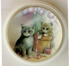Playful Companions by Ruane Manning Kitten Cousins-Danbury Mint Collector Plate