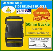 50mm  side release buckles - webbing quick release clip - $5.25 - FREE POST