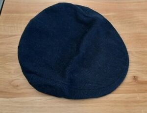 Navy Cashmere Cap by W. Bill London Made in Scotland size  7 1/8 (58) soft & vgc