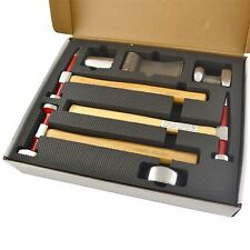 Auto body Repair Kit Panel Beating Hickory Hammers Dollies Shrinking 7pc AN021