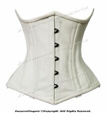 Heavy Duty 26 Double Steel Boned Waist Training Cotton Underbust Shaper Corset