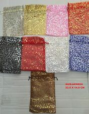 XL 10/25 Organza gift Wedding Favour Pouches Jewellery Mesh Party Drawstrin Bags