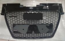 For Audi TT TTRS Style Honeycomb Bumper Gloss Black Grille chrome ring 2008-2014