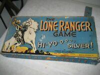 Vintage 1938 Lone Ranger Game Board Parker Bros Hi Yo Silver for parts only