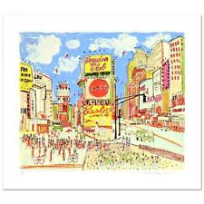 "New York ""Times Square""  Susan Pear Meisel  Ltd Ed Serigraph   Hand Signed  COA"