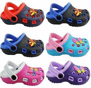 Boys Girls Clog Mules Slipper Garden Beach Sandals Rubber Shower Shoes Size NEW
