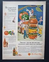 1943 Sniders Old Fashioned Chili Sauce Art Vintage Print Ad Kitchen Decor 1940s