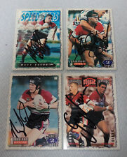 #D308. FOUR 1995 NORTH SYDNEY BEARS   SIGNED RUGBY LEAGUE CARDS