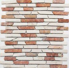 Marmormosaik Verbund mix RossoCream Fliesenspiegel Wand Art: 40-0135 | 10 Matten