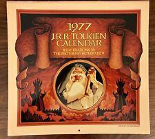 Vintage J.R.R. Tolkien 1977 Calendar Hildebrandt Artwork Lord Of The Rings Rare