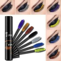 Farbige 4D Silk Fiber Wimpern Mascara Extension Make-up Wimpern Wasserdicht M5W2