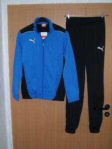 Puma Foundation Trainingsanzug 2Teile Jacke und Hose Jogginganzug blau S XXL neu