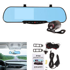 "4.3"" Car LCD Monitor View Mirror +Dual Wired Reverse Car Rear View Backup Camera"