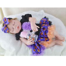 "23"" Full Body Vinyl Silicone bebe Reborn Toddler Girl Baby Sleeping Dolls Gifts"