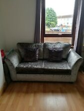 DFS Silver crushed velvet sofabed - less than a year old