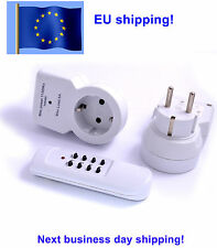 Wireless Remote Control adapter AC Power Plug Wall 220v Switch EU 235v socket