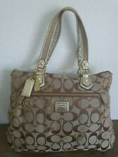 COACH Large POPPY Signature Glam Tote Shoulder Bag