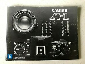Original Canon A-1 Camera Instruction Manual