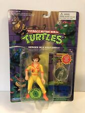 TMNT April O Neil 1988 1994 MOC Collectors Card + Coin New Sealed