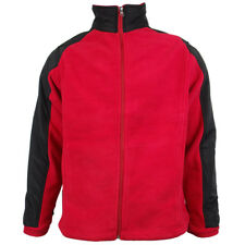 Mens Location Full Zip Warm Polar Fleece Jacket Anti Pill Work Winter Coat FZ UK Small Chill Delta (red)