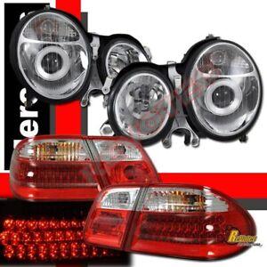 00-02 Mercedes Benz E-Class W210 E430 Projector Headlights & LED Tail Lights