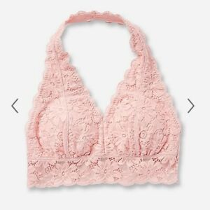 Justice Girls Lace Padded Halter Bralette Bra - New With Tags