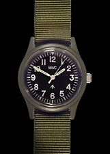 MWC Retro Olive NATO Pattern General Service Watch with a European Dial Format