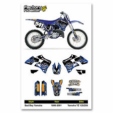 Yamaha 1996-01 YZ 125 250 Dirt Bike Graphics BadBoy Motocross Graphics