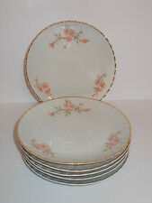 6 x ARPO Fine China Side Cake Plates Floral Design Lovely