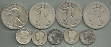 $2.50 Face Value Mixed CULLS - 90% Silver - US Coin Lot - 9 Coins #3562