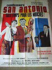 SALE TEMPS POUR LES MOUCHES Commissaire San Antonio 1966 lot de 2 affiches dard