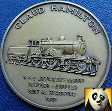 Railway history médaille bronze coin claud hamilton 4-4-0 locomotive relief détails