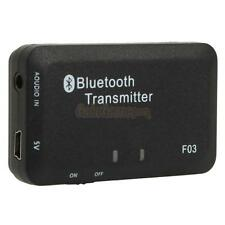 2X 3.5mm Stereo Bluetooth Audio Transmitter A2DP Dongle Adapter for iPod PC TV