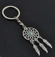 Fashion Feather Tassels Dream Catcher Keyring Keychain Gift New