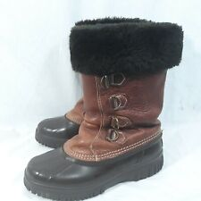 Sorel Womens Size 6 Waterproof Winter Faux Fur Insulated Lined Snow Duck Boots