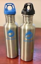 H2Ozone Stainless Steel Water Bottle 27oz. 1 Blue & 1 Black Lid Bottle. New.
