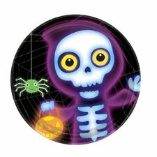 8pk Boo Crew Monsters Paper Plates 22.9cm Halloween Party Tableware
