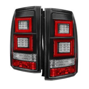 Fit Land Rover 10-14 LR4 14 Discovery Black LED Tail Lights Brake Lamps Set