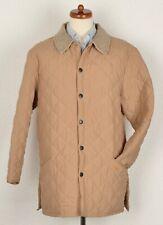 Barbour Eskdale Gr L Steppjacke Quilted Jacket Coat Burgunderrot Beige Sand Tan