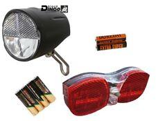 Black Dingo LED Batterie-Scheinwerfer Set 20 Lux StVZO Fahrrad Lampe Rücklicht