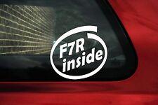 2x F7R dentro de pegatinas. Renault Clio Williams, Megane